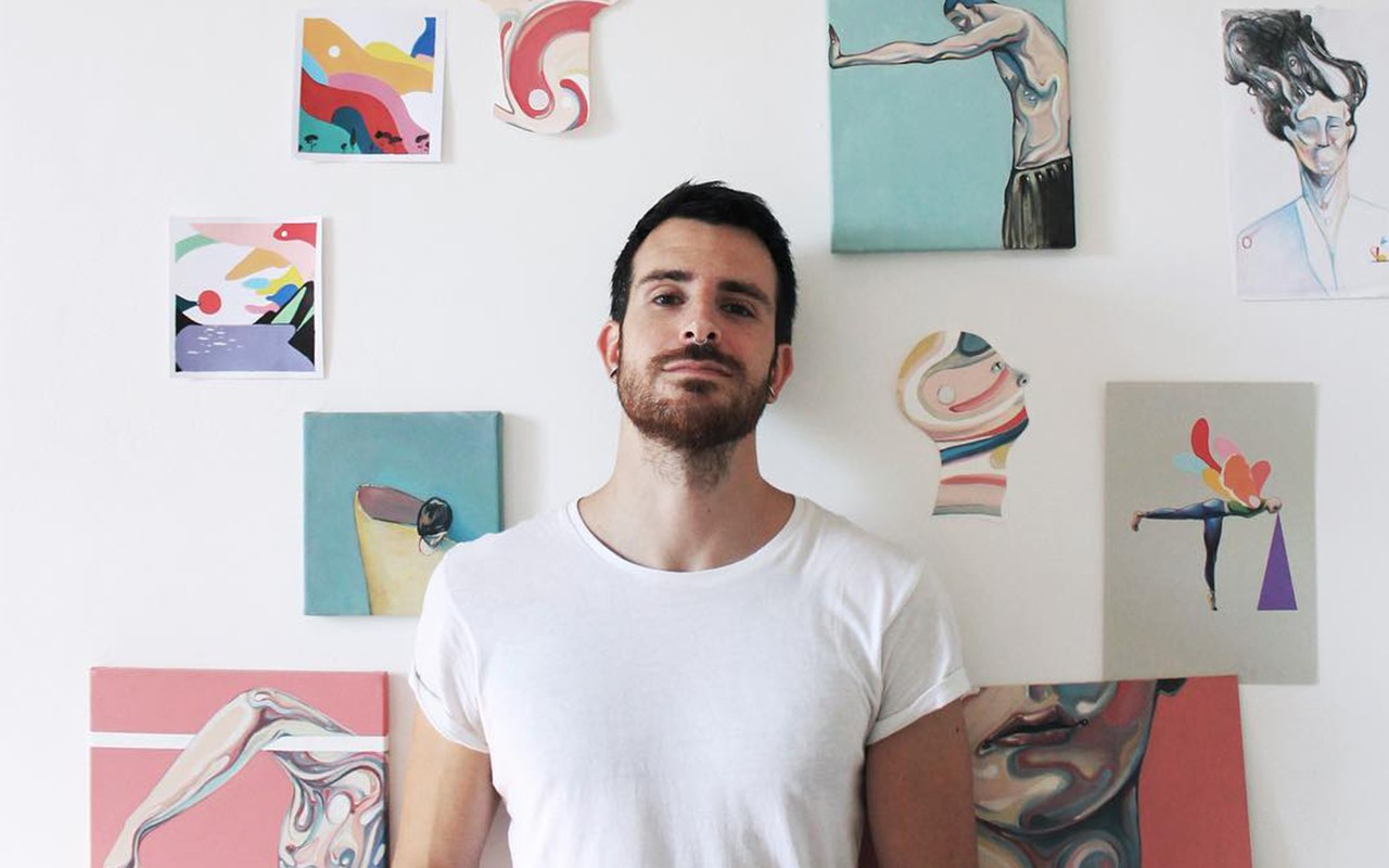 L'artista Nicolò Canova
